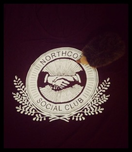 Representing the Northcote Social Club in the UK with my tee. The Aussie Echidna approves!